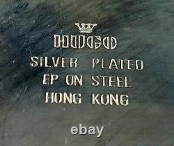 Vintage Hugo Silver Plated Gravy Boat Jug & Saucer