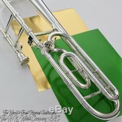 Vintage King 4B Sonorous Symphony F Attachment Trombone Original Silver Plate
