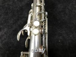 Vintage Original Silver Plated Buescher True Tone Soprano Sax Serial # 238118