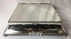 Vintage Silver Plate Cake Stand / Display, Hassop Hall Hotel, Derbyshire (large)