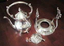 Vintage Silver Plate Coffee/tea Warmer Spirit Burner Tip Stand. Fb Rogers USA