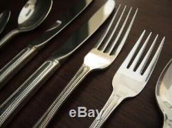 Vintage Silver Plate Community Patrician Cutlery Set for 6 people with Canteen