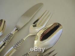 Vintage Silver Plate Danish Frigast Cheri Cherie 12 person cutlery set 60 pieces