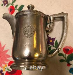 Vintage Silver Plate The Plaza Hotel Coffee Tea Pot 8 Oz New York City 1927