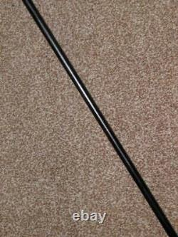 Vintage Silver Plate Walking Stick/Cane With Floral Detailed Celluloid Handle