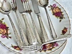 Vintage Silver Plated Cutlery Set Rodd'nemesia' For 8 People Australia C 1960