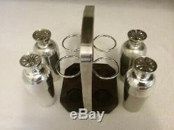 Vintage Silver Plated Napier Foursome Cocktail Shaker Set Extremely Rare