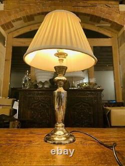 Vintage Silver Plated Table Lamp, Classical Style