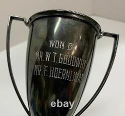 Vintage Wallace Manila Polo Club Silver Plated Trophy Cup Won by Mr. Goodwin 7.3