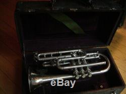 Vintage York Cornet Silver & Gold Plate Original Near Mint Condition