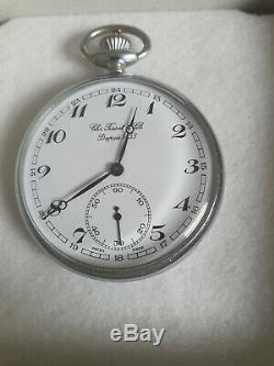 Vintage silver plated TISSOT & FILS swiss pocket watch & original TISSOT box