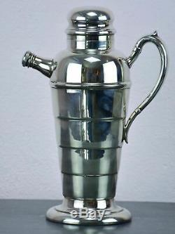 Vintage silver-plated cocktail shaker with spout
