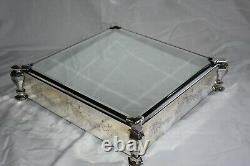 Vintage silver plated wedding cake stand case included and knife