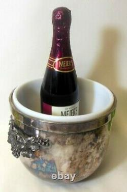 Vitg GORHAM Silver Plate EP Lidded CHAMPAGNE WINE ICE BUCKET Cooler Grapes BAR