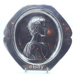 WMF Antique Wall plaque tray, Portrait of Ceasar. Art Nouveau, Jugedstil