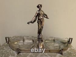 WMF Art Nouveau Decorative Silver Plated Figural Centerpiece, Germany