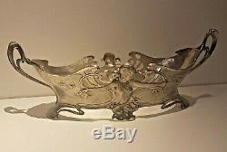 WMF Art Nouveau ORIGINAL Oval Silver Plated Flower Dish