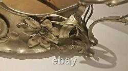 WMF Art Nouveau ORIGINAL Silver Plated Flower Centerpiece (no glass line)