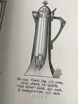 WMF Art Nouveau Silver Plate Claret Jug Circa 1900