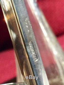 WMF Art Nouveau Silver Plate / Cut Crystal Cruet Set Circa 1900