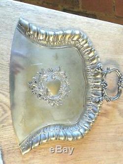 WMF Art Nouveau Silver Plate Dustpan and Brush, Jugendstil Secessionist