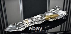 WMF Rare Antique Art Nouveau Silver Plated Pen Tray, Model 215, WMFB late 1900c