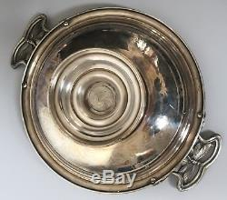 WMF rare superb Art Nouveau silver plated tray dish with dragonfly, jugendstil