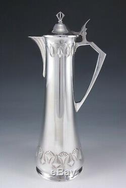 WMF silver plate Art Nouveau Jugendstil Secession wine jug German c. 1905