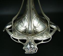 WONDERFUL GERMAN WMF ART NOUVEAU Silver Plated Pedestal Centerpiece VERY LARGE