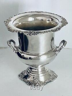 Wallace Silver Baroque 243 Silverplate Champagne Wine Cooler Ice Bucket Urn