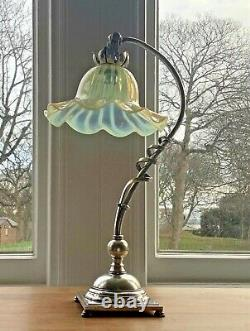 Was Benson Silver Plated Table Lamp Lampe Arts & Crafts Art Nouveau Signed