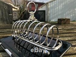 White Star Line silver plate Toast Rack, VERY EARLY PRE-1888 Original