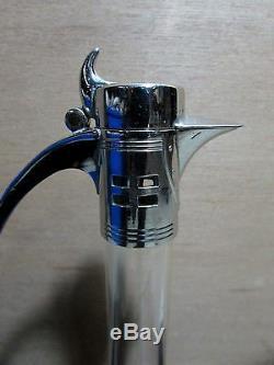 Wmf Silver Plated Secessionist Art Nouveau Glass Claret Jug Dorian Frank Style