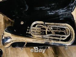 YAMAHA YBH-621S Baritone Horn Silver-plated With Original Case