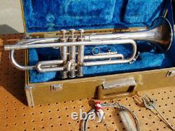 Yamaha Silver Plated Ytr-232s Trumpet Original Hard Case Japan Decent 013743