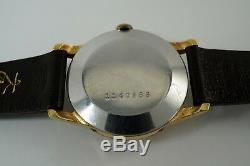 Zodiac Triple Date Moon Phase 905 Gold Plated Top S/s Back Original Dates 1957